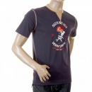 EVISU Rare Denim Dinner Print T shirt