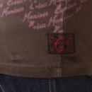 EVISU Rare Pink Print on Chocolate Evisu Maniacs t shirt