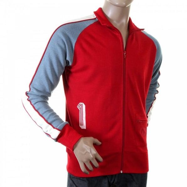 EVISU Rare Red Collared Regular Fit Osaka Track Jacket