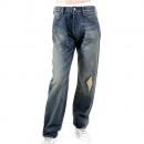 EVISU Rare Repair shop loose fit denim jeans