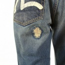 EVISU Rare Repair shop loose fit denim jeans