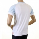 EVISU Rare White with Sky Blue Short Sleeve T-Shirt