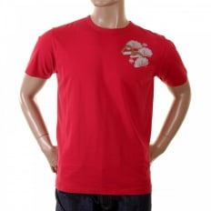 Red Cotton Crew Neck T-Shirt
