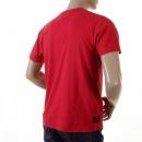 EVISU Red Cotton Crew Neck T-Shirt