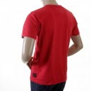 EVISU Red Cotton Crew Neck T-Shirt