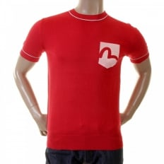 Red Logo Pocket printed T shirt for Men