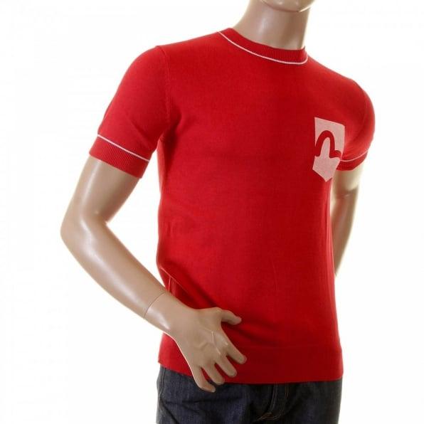 EVISU Red Logo Pocket printed T shirt for Men