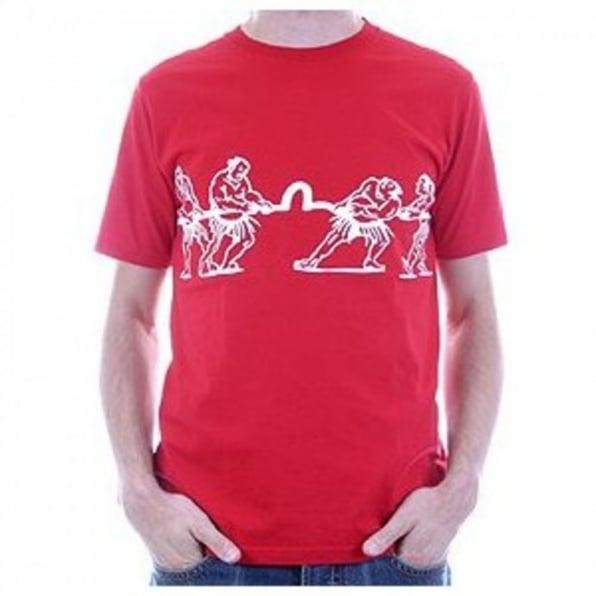 EVISU Red Regular Fit Short Sleeve Tug of War T Shirt