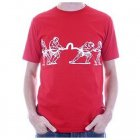 Red Regular Fit Short Sleeve Tug of War T Shirt