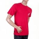 EVISU Red Short Sleeve, Crew Neck T-shirt