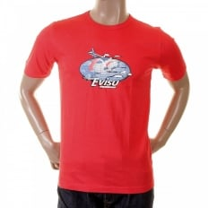 Scarlett Red Original Airline Printed T shirt