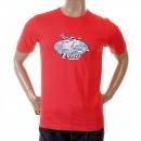 EVISU Scarlett Red Original Airline Printed T shirt