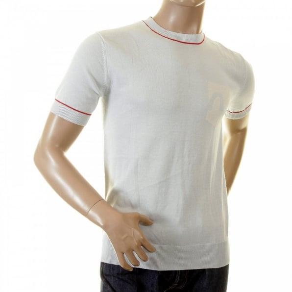 EVISU Sky Blue Logo Pocket printed T shirt for Men