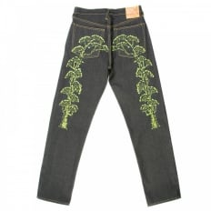 Vintage Cut Embroidered Bonsai Tree Jeans