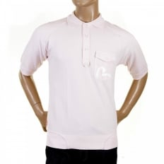 Washed Pale Pink Polo Shirt