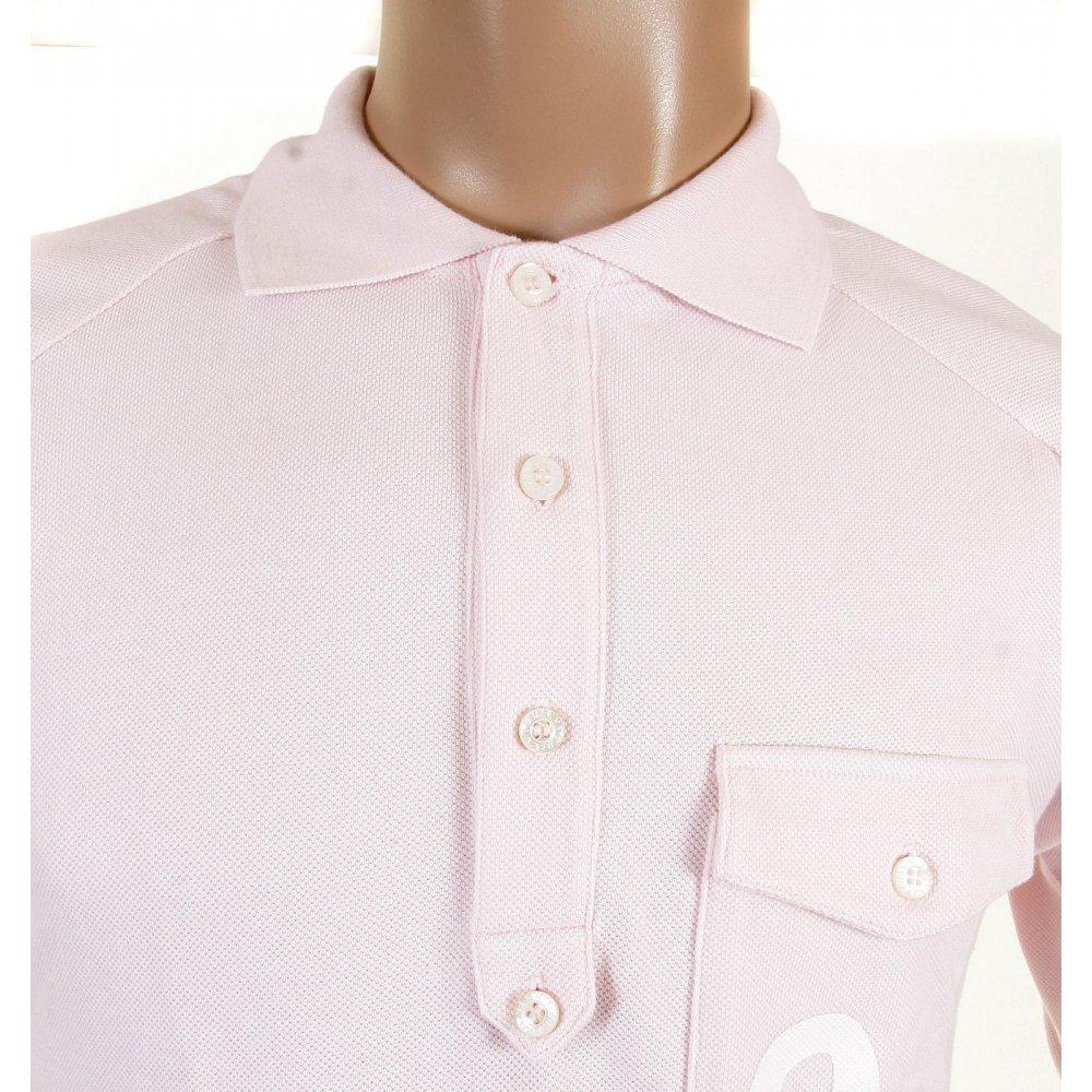 Pale Washed Pink Polo Shirt By Evisu Online At Niro Fashion