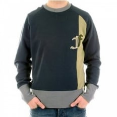 Black Lead Crew Neck Long Sleeve Sweatshirt