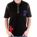 FAKE LONDON Black Regular Fit Pique Polo Shirt