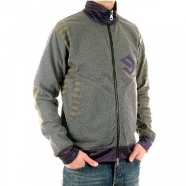 FAKE LONDON Charcoal Long Sleeve Zipped Sweatshirt Jacket