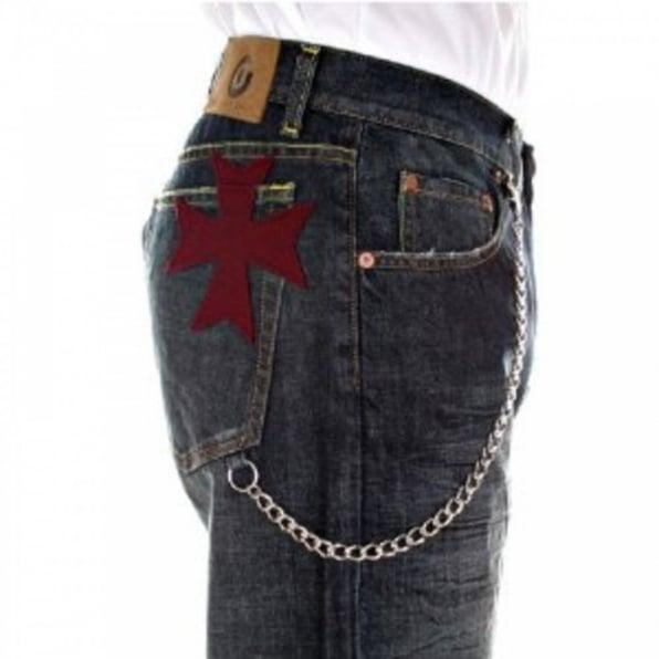 FAKE LONDON Classic Bleached Denim Jeans