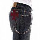 FAKE LONDON Classic Bleached Denim Jeans