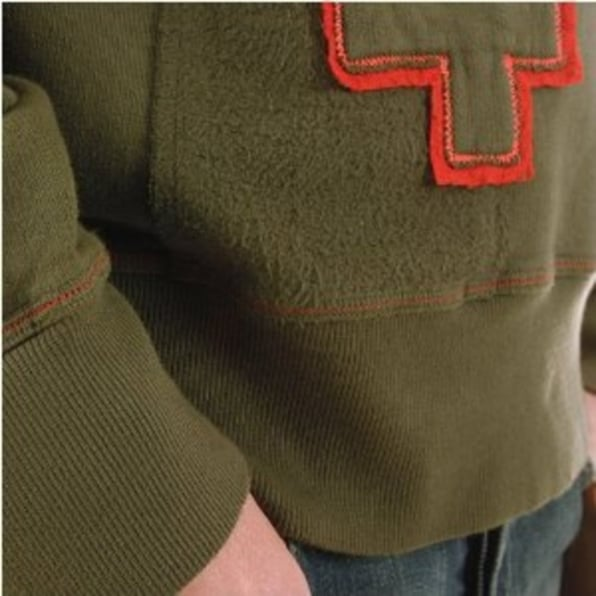 FAKE LONDON Long Sleeve Dusty Olive Sweatshirt