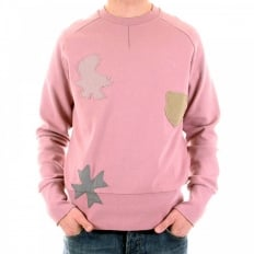 Rose Pink Crew Neck Long Sleeve Sweatshirt