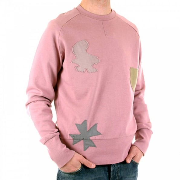 FAKE LONDON Rose Pink Crew Neck Long Sleeve Sweatshirt