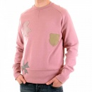 FAKE LONDON Rose Pink Crew Neck Long Sleeve Sweatshirt