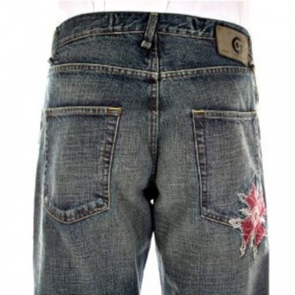 FAKE LONDON Sandblast Stonewash Classic Fit Jeans