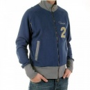 FAKE LONDON Zipped Navy Long Sleeve Sweatshirt