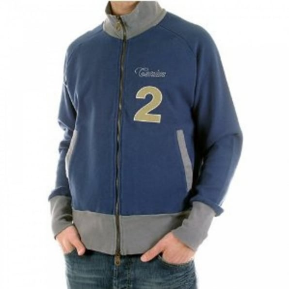 FAKE LONDON Zipped Navy Long Sleeve Sweatshirt