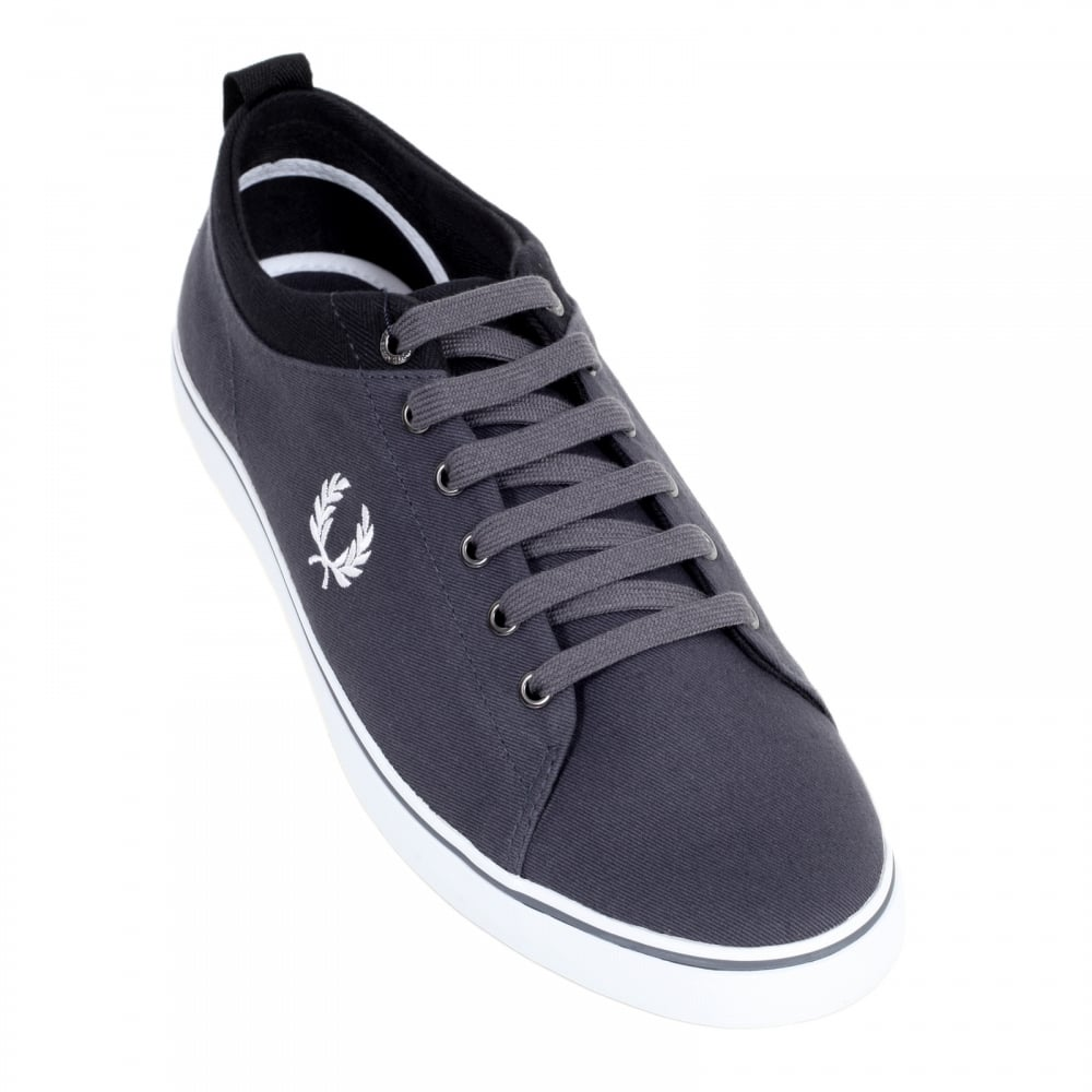 Mens Canvas Trainers in Charcoal Grey