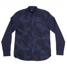 Mens Regular Fit Button down Collar Long Sleeve Shirt in Medieval Blue