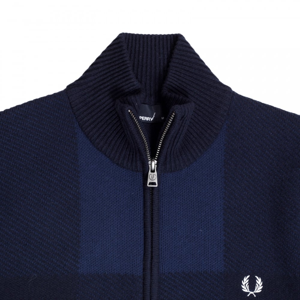 76e1351546 Buy Classy and Sublime Navy Blue Cardigan by Fred Perry