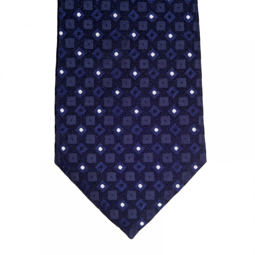 buy the blue black silk pin dot tie by giorgio armani