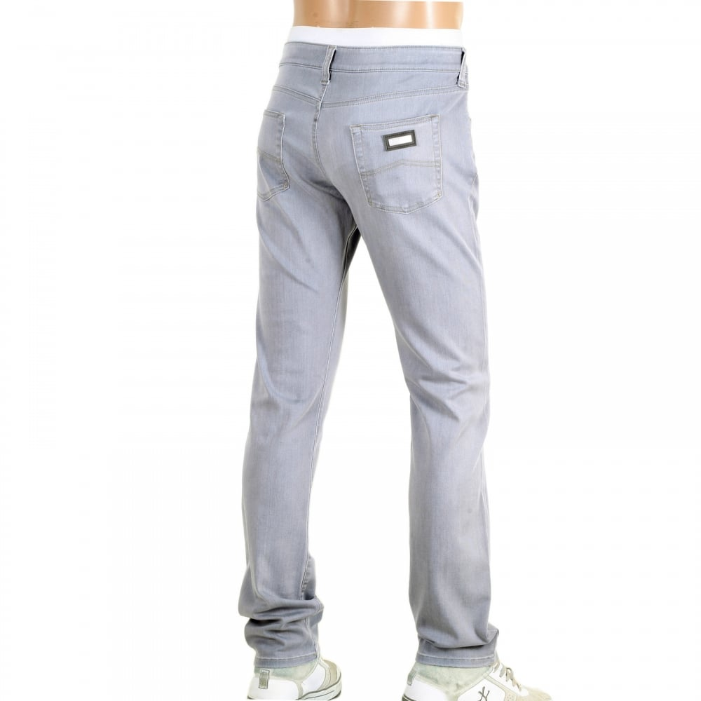 2cb83d415b82 GIORGIO ARMANI Mens J06 Grey Low Waist Narrow Leg Slim Fit Stretch Denim  Jeans with zip fly