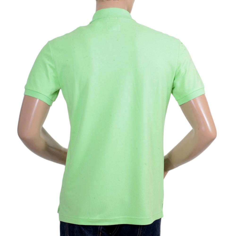 Armani Polo Shirt in Light Green with Embroidered Logo