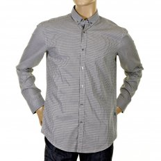 Black and grey check Peric regular fit shirt