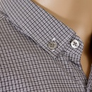 HUGO BOSS BLACK Black and grey check Peric regular fit shirt