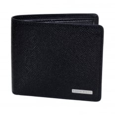 Black Grain 50311738 Leather Signature Double Billfold Wallet for Men with Coin Pouch and 4 Credit Card Slots