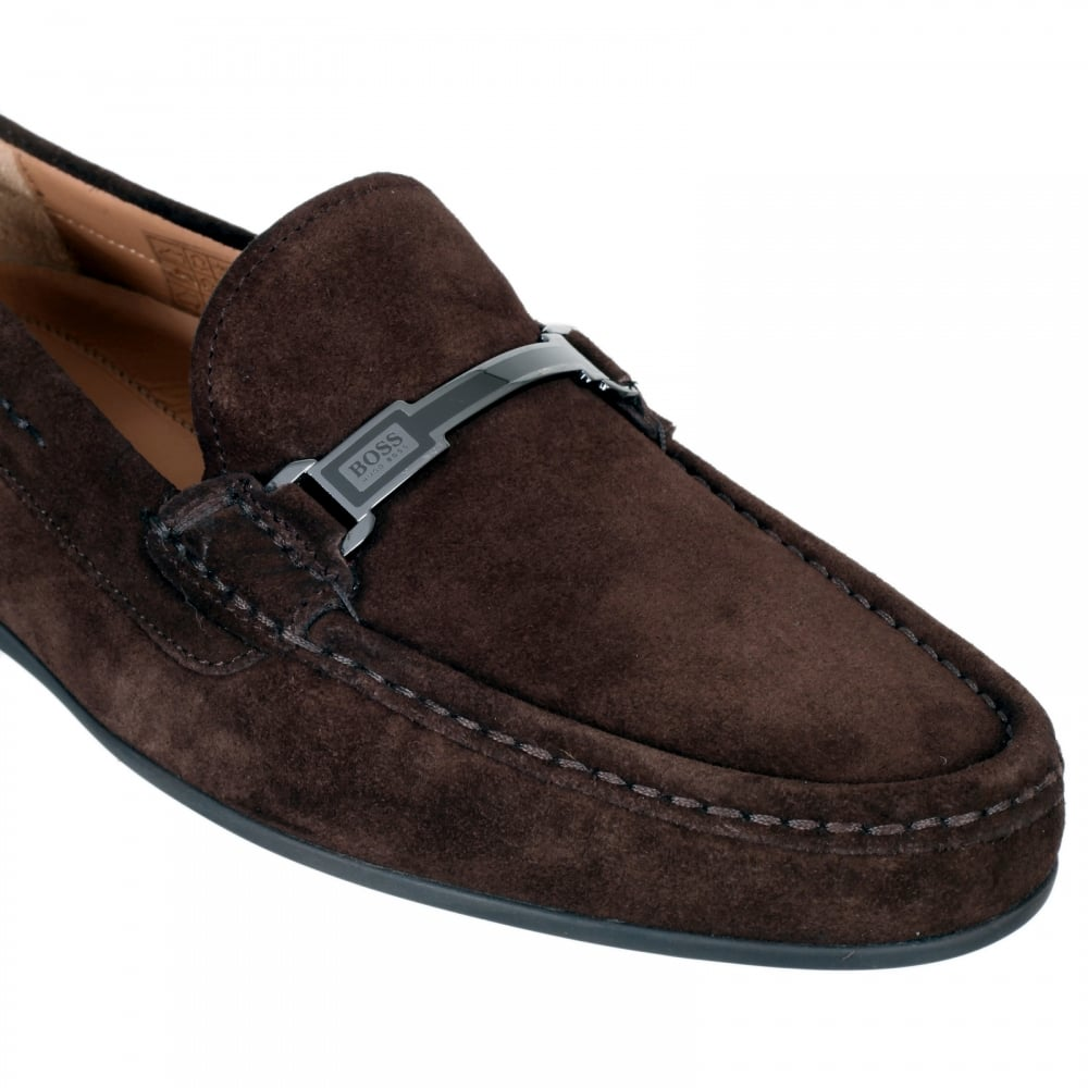 Buy Mens Suede Shoes in Dark Brown by
