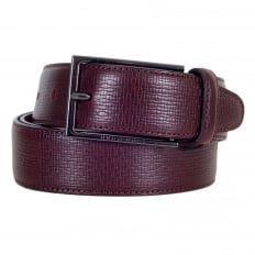 Dark Mahogany Red Mens 50292298 Cabel Belt with Gunmetal Grey Buckle