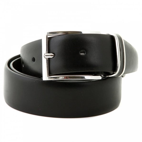 HUGO BOSS BLACK Froppin black leather belt