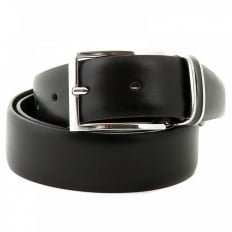 Froppin black leather belt