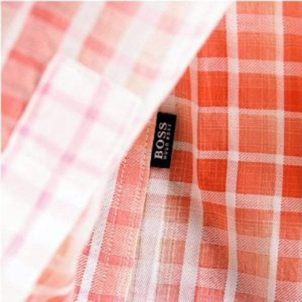 HUGO BOSS BLACK Long sleeve check shirt