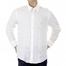 Lucas White casual long sleeve shirt