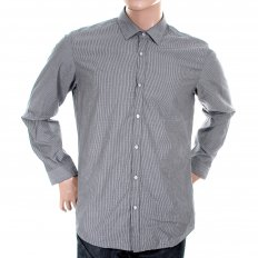 Mens blue Lorenzo woven long sleeve shirt