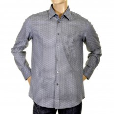 Mens Blue lucas long sleeve shirt