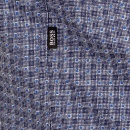 HUGO BOSS BLACK Mens Blue lucas long sleeve shirt